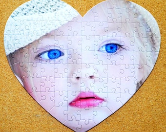 SALE.  Last Minute gift.  Custom Personalized Photo Puzzle in Round, Heart. Oval or 8x10 picture puzzle.  Seen on the TODAY Show