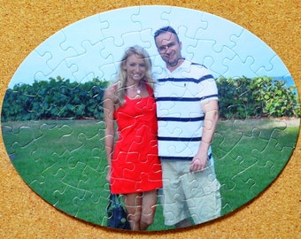 Gift Alert!  Inexpensive Custom Photo Puzzle With your choice of either a Large Oval, Heart, or Round Puzzle