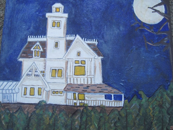 """Practical Magic """"The Owens' House"""" Original Painting"""