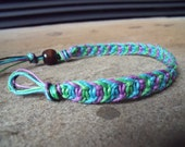 Purple, Blue, and Green Fishbone Knot Bracelet