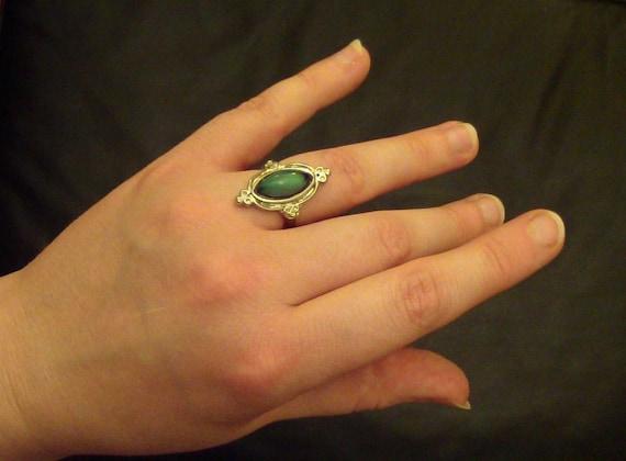 90's Victorian Design Adjustable Silver Mood Ring