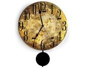 14 inch clock (Also comes in other sizes) - Marbled looking muted browns and tans. Very sophisticated and chic.