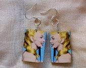 Marilyn Monroe decoupage earrings