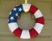 Door Wreath for Fourth of July