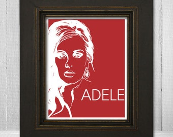 Adele Print 11x14 - Music Print - Music Art Print - Music Poster - Pop Music Print - Adele Poster