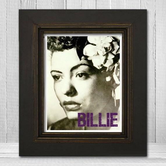 Billie Holiday Poster 8x10 - Music Print - Music Art Print - Jazz Poster - Blues Print - Vintage Billie Holiday Poster