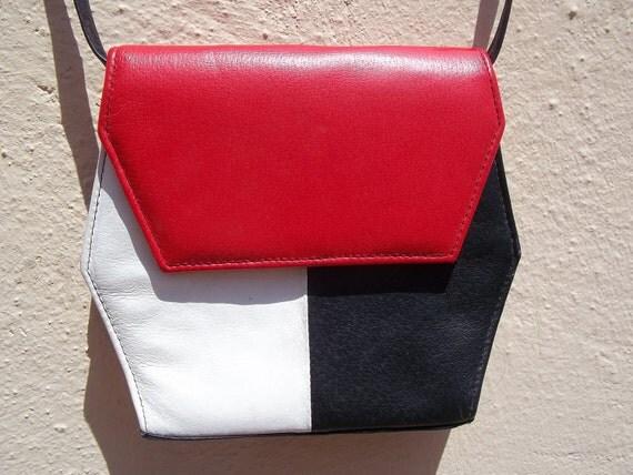 Vintage Color Block Purse