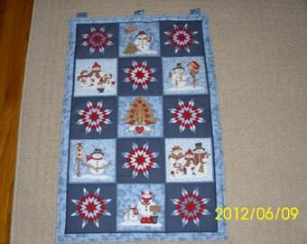 Snowman Tapestry