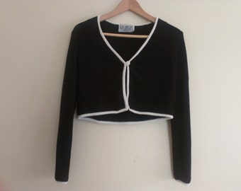80s vintage eighties cropped jacket ladies