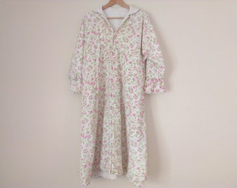 50s vintage fifties large robe floral