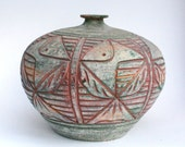 Large Tribal Clay Vase Pottery - Thailand