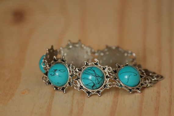 1970s Chilean Turquoise Colored Bracelet