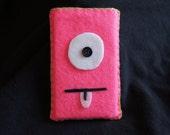 Pink iPod/Zune Cyclops Alien Slip Cover