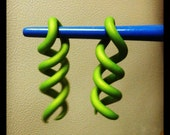 Lime Green Spiral Gauges