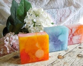 Glycerin Trio Pack- Black Currant/Pomegranate, Cherry Blossom and Herbal Essence Handmade Soap