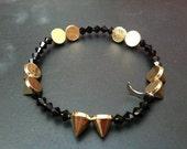 Jet Crystal/Small Spike Bracelet