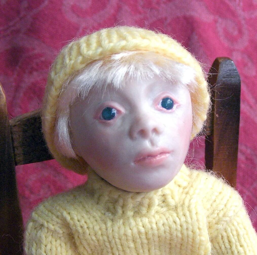 Newborn Baby Girl Dark Hair Albin OOAK Albino Chil...