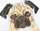 Personalized Gift Card : Pug Puppy Dog