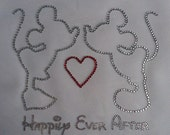 Mickey and Minnie Happily Ever After Rhinestone Iron On Transfer