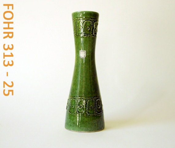 West German ceramic vase by FOHR // 60s // labeled