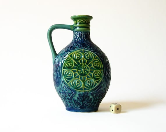 West German Pottery Vase by BAY // Ceramic // Ornament // mid century