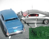 Automotive Diorama: Audi R8 & Chevy Bel Air Collision Scene