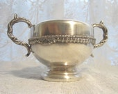 Vintage Old English Reproduction Silverplate Coffee Creamer Sugar Art Nouveau-to-Deco Set by Leonard Brothers