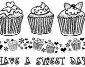 Set - Cupcakes UM Rubber Stamps