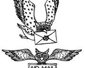 Set - Owl Post UM Rubber Stamps