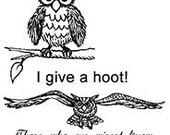 Set - Wise Owls UM Rubber Stamps