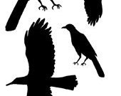 Set - As The Crow Flies -  UM Rubber Stamps