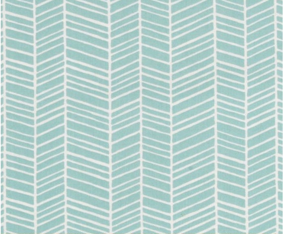 Any Size Pillow Cover in Teal Herringbone Fabric