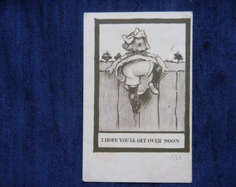 I hope youll get over soon  early 1900s postcard