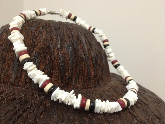 Puka Shell RASTA surf Necklace