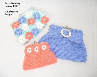 Small purse / clutch bag knitting pattern DOWNLOAD