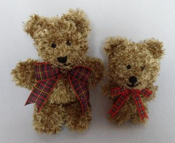 Steve and Danno - Small teddy bear knitting pattern DOWNLOAD