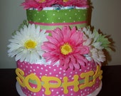 Personalized Diaper Cake Baby Girl