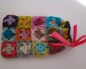 Kit for a clutch bag Tutti Frutti in Alpaca, Pink Ribbon polka dot