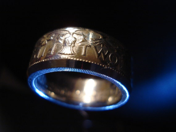 Scottish Two Shilling Coin Ring, Years 1953 to 1967 available