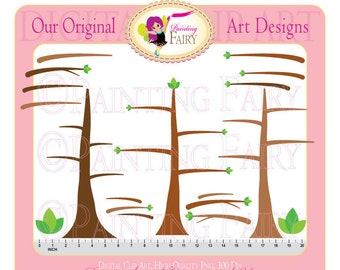 Clipart Buy 2 get 1 Free- Cute Owls Branches Forests Owls Trees clip art designer layout digital images Personal & Commercial Use pf00014-7