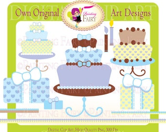 Clipart - Buy 2 get 1 Free - Happy Birthday clip art boy colors designer elements layout digital images personal & commercial use pf00010-3