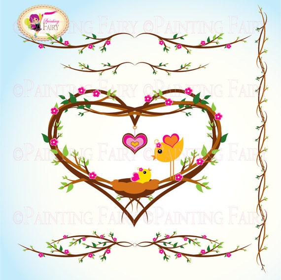 Clipart - Buy 2 get 1 Free - Cute Lovely Mom and Baby Bird ...