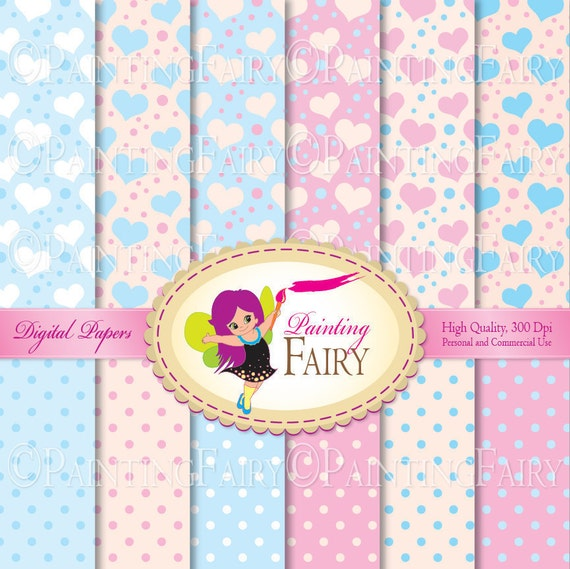 "Buy 2 get 1 Free 12 Digital Papers Dreamlike Colors backgrounds Baby Boys Girls paper pack 8.5x11"" Personal & Commercial Use Use pf00020-1"