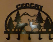personalized coat rack would be great with your last name  no name  or welcome