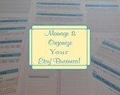 The Complete Etsy Seller Printables Organzier Kit  - 24 Printables PDFs IMMEDIATE DIGITAL DOWNLOAD