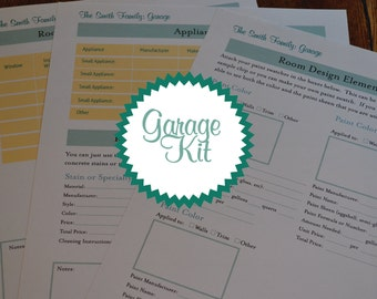 The Garage Home Organizer Kit - 3 Documents IMMEDIATE DIGITAL DOWNLOAD