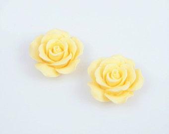 Yellow Rose Cabochon / 23mm / EYE003-B3 (4pcs)