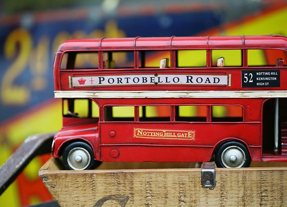 London Bus Portobello market 5x7 Art Photography Print.