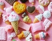 Wholesale Cute Kawaii Kawaii Cute Cabochon Mix Starter Kit 30 pcs