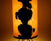 Poochie Lamp Flocked with Rhinestone Collar